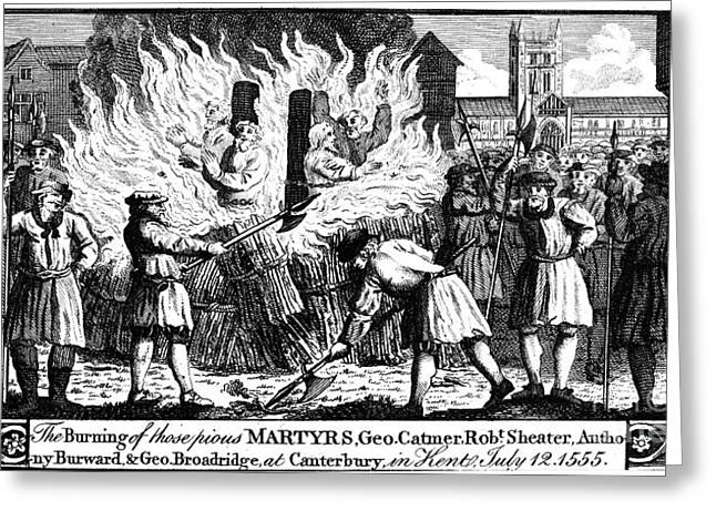 Foxe: Book Of Martyrs Greeting Card