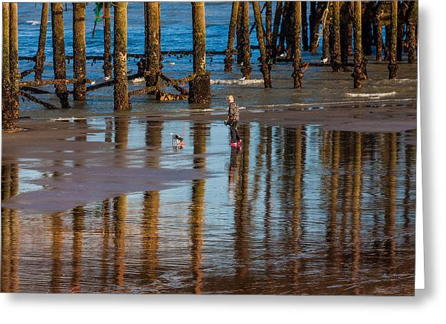Hastings Pier Greeting Card by Dawn OConnor