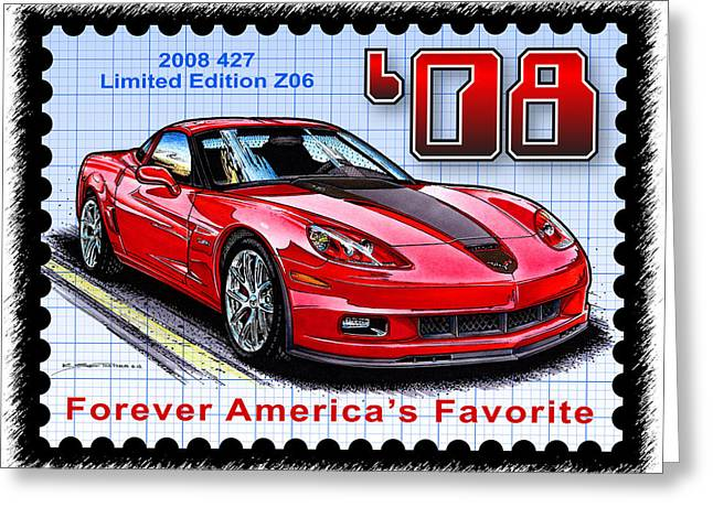 2008 427 Limited Edition Z06 Greeting Card