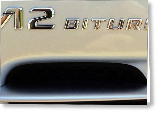 2009 Biturbo V12 Mercedes Greeting Card