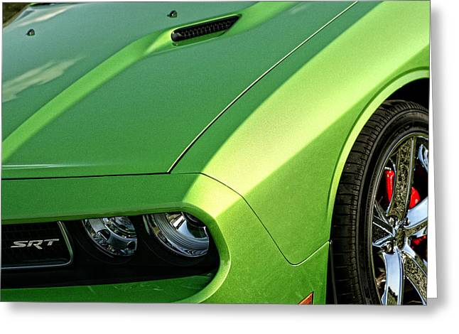 2011 Dodge Challenger Srt8 - Green With Envy Greeting Card by Gordon Dean II