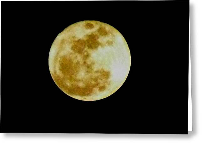 Greeting Card featuring the photograph 2011 Full Moon by Maria Urso