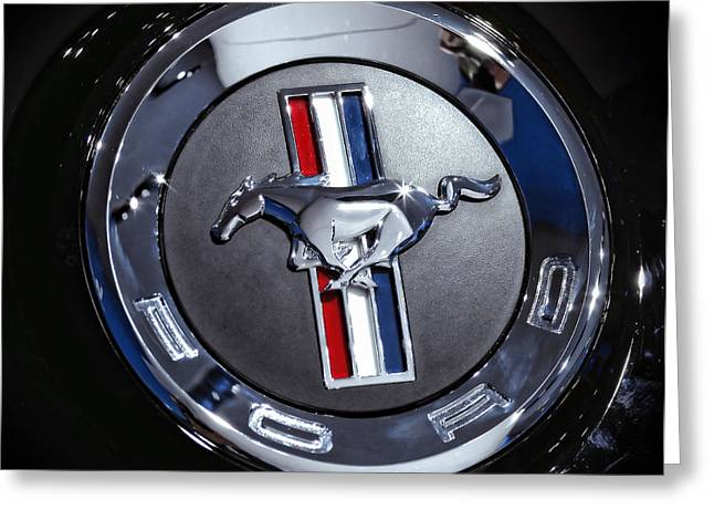 2012 Ford Mustang Trunk Emblem Greeting Card