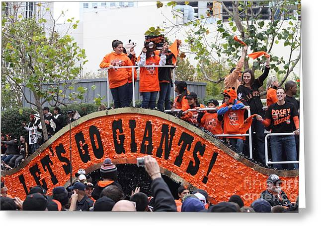 2012 San Francisco Giants World Series Champions Parade - Dpp0004 Greeting Card