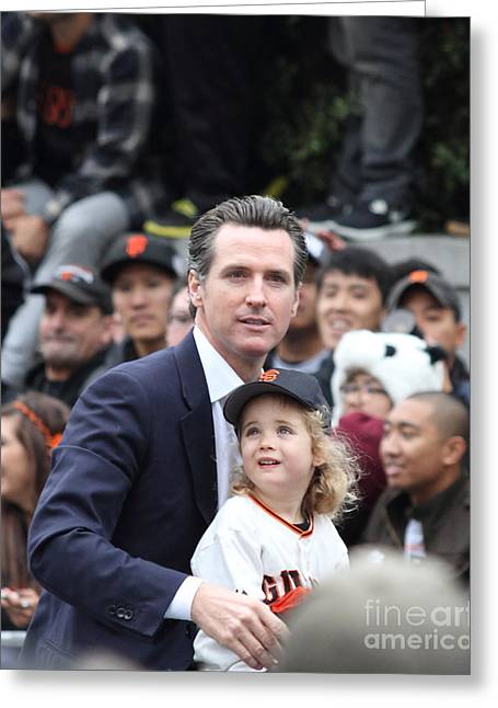 2012 San Francisco Giants World Series Champions Parade - Gavin Newsom - Dpp0005 Greeting Card