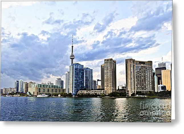 Toronto Skyline Greeting Card by Elena Elisseeva