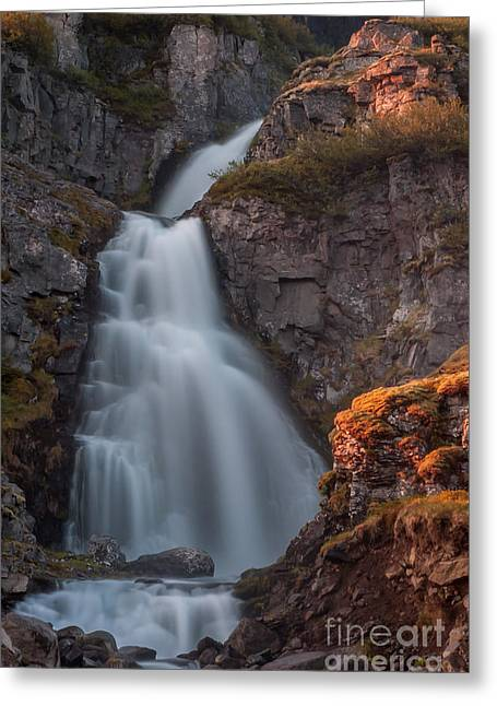 Waterfall Iceland Greeting Card