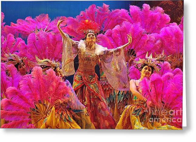 Asian Splendors Series Greeting Card by Terry Troupe