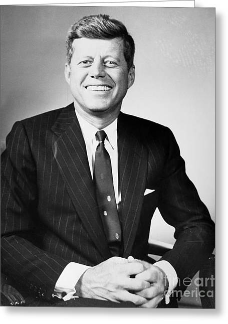 John F. Kennedy (1917-1963) Greeting Card by Granger