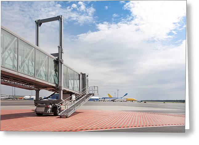 Tallinn Airport In Estonia Greeting Card by Jaak Nilson