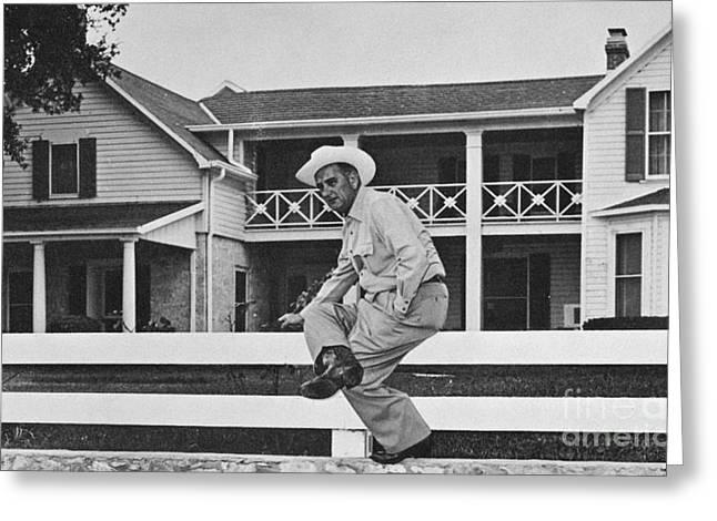 Lyndon Baines Johnson Greeting Card by Granger