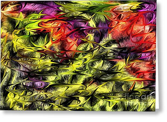 Greeting Card featuring the digital art 2312 by Leo Symon