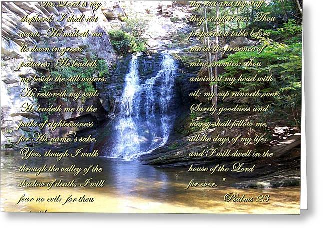 23rd Psalm Greeting Card by Chad and Stacey Hall
