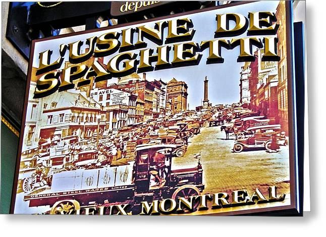 273 Rue Saint Paul Est ... Greeting Card by Juergen Weiss