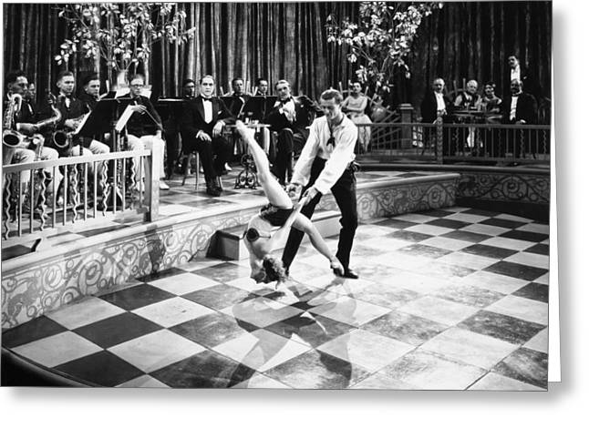Silent Film Still: Dancing Greeting Card by Granger