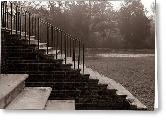 28 Up And Down Steps Greeting Card by Jan W Faul