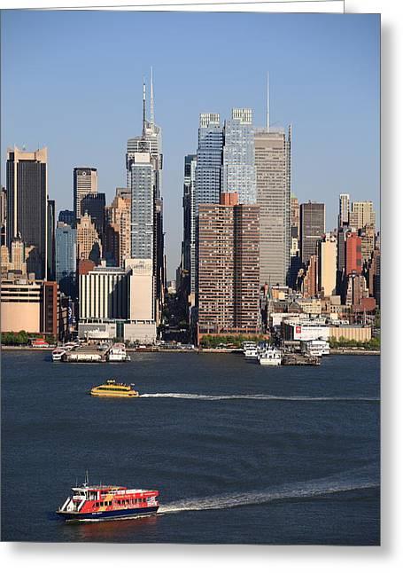 New York City Skyline Greeting Card by Frank Romeo
