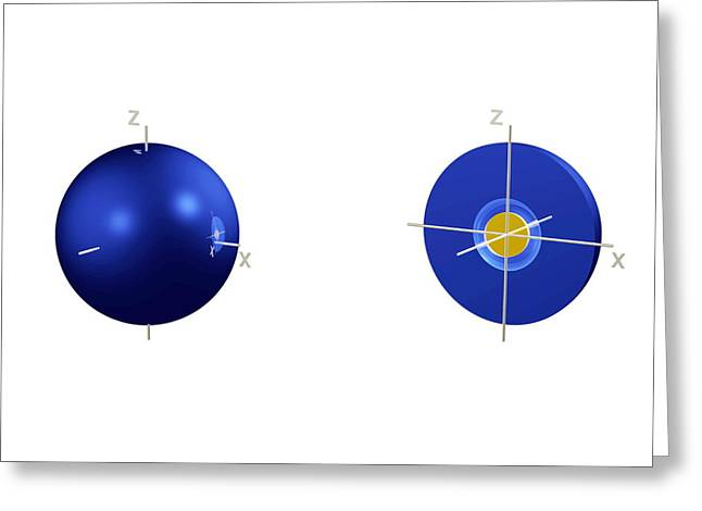 2s Electron Orbital Greeting Card by Dr Mark J. Winter