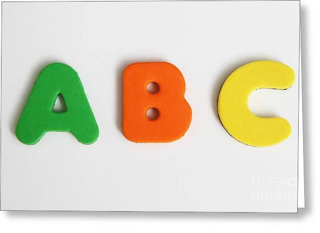 Abcs Greeting Card