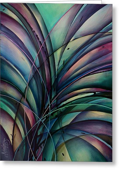 Abstract Design Greeting Card by Michael Lang