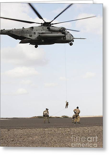 Air Force Pararescuemen Conduct Greeting Card by Stocktrek Images