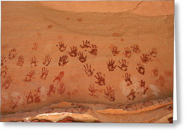 Ancient Pueblo-anasazi Rock Art Greeting Card by Ira Block