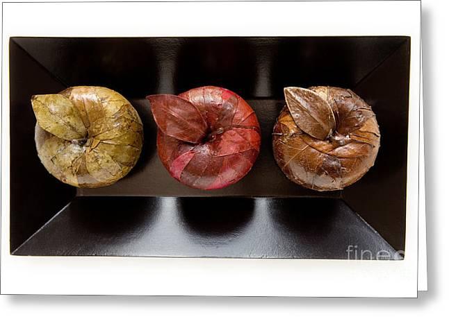 3 Apples Greeting Card by Igor Kislev