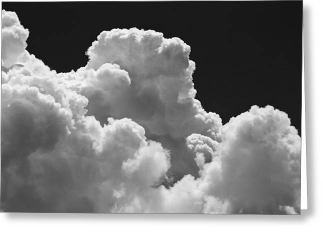 Black And White Sky With Building Storm Clouds Fine Art Print Greeting Card