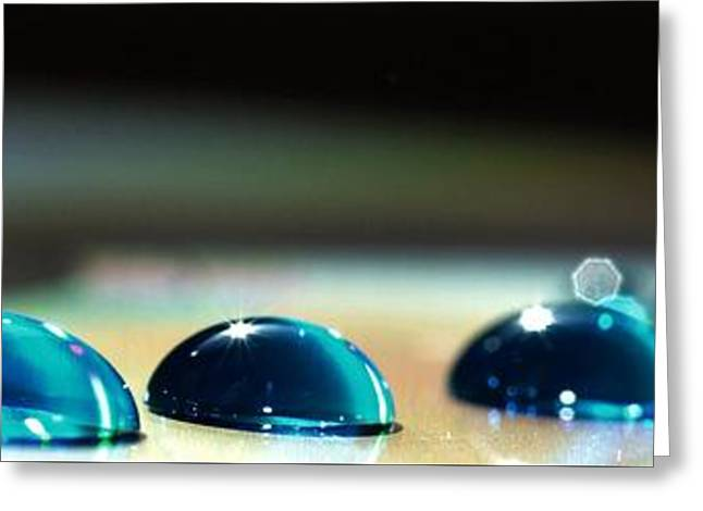 Greeting Card featuring the photograph Blue Drops by Sylvie Leandre