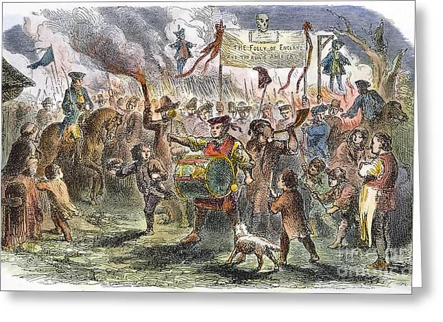 Boston: Stamp Act Riot, 1765 Greeting Card by Granger
