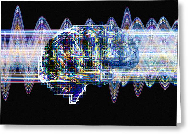 Brain, Conceptual Computer Artwork Greeting Card