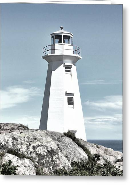 Cape Spear Lighthouse Greeting Card by Steve Hurt