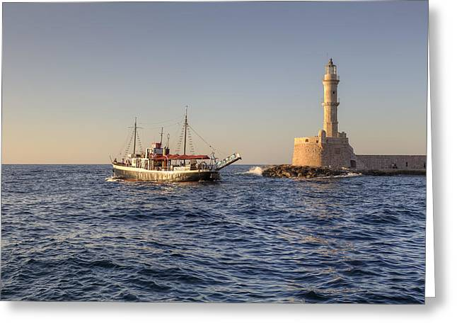 Chania - Crete Greeting Card by Joana Kruse