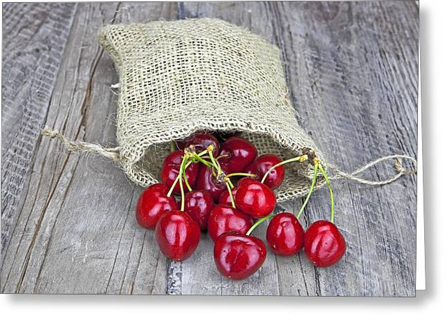 Cherries Greeting Card by Joana Kruse