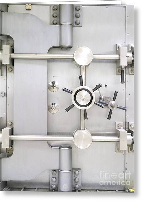 Closed Bank Vault Door Greeting Card