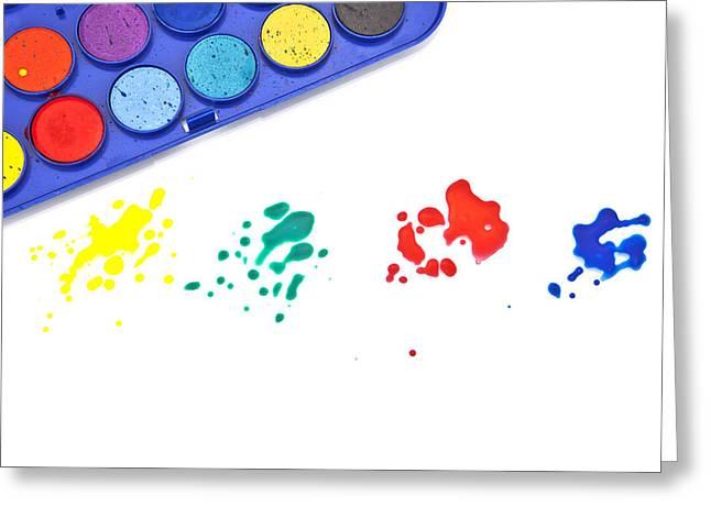 Color Splash Greeting Card by Joana Kruse