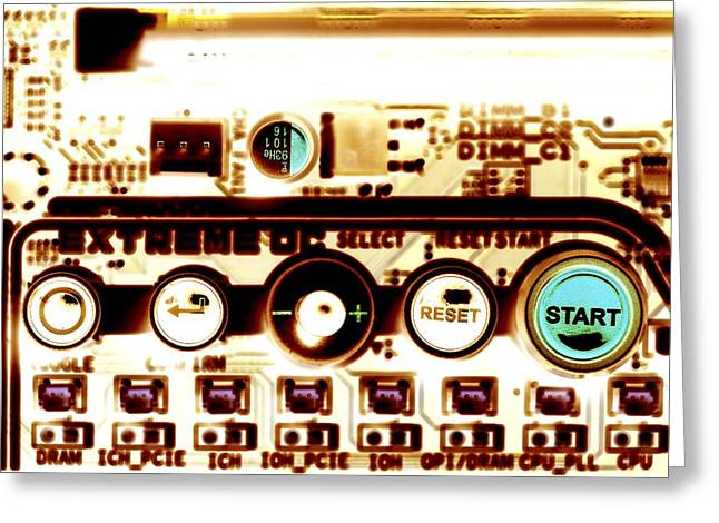 Computer Circuit Board Greeting Card by Pasieka