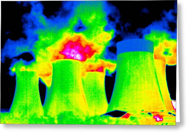 Cooling Towers, Thermogram Greeting Card