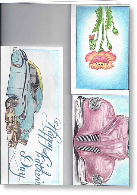 3 Different Cards Greeting Card by Jay Van