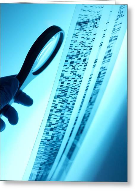 Dna Analysis Greeting Card by Tek Image