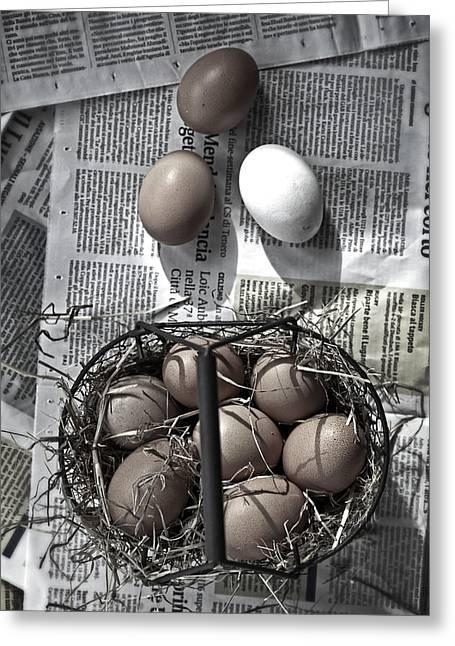 Eggs Greeting Card by Joana Kruse