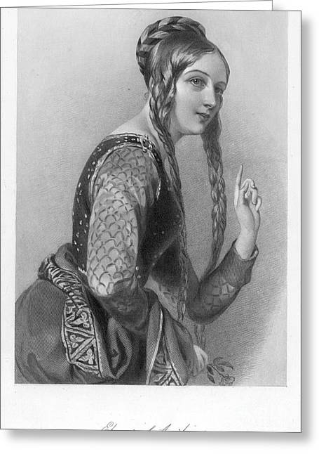 Eleanor Of Aquitaine Greeting Card by Granger