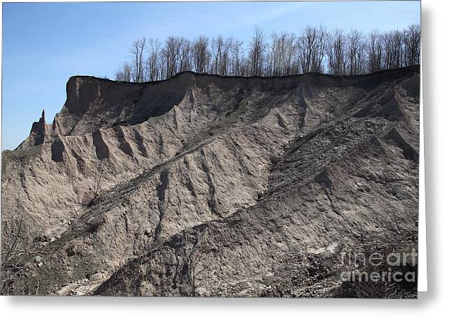 Erosion Of Glacial Drumlin Greeting Card by Ted Kinsman
