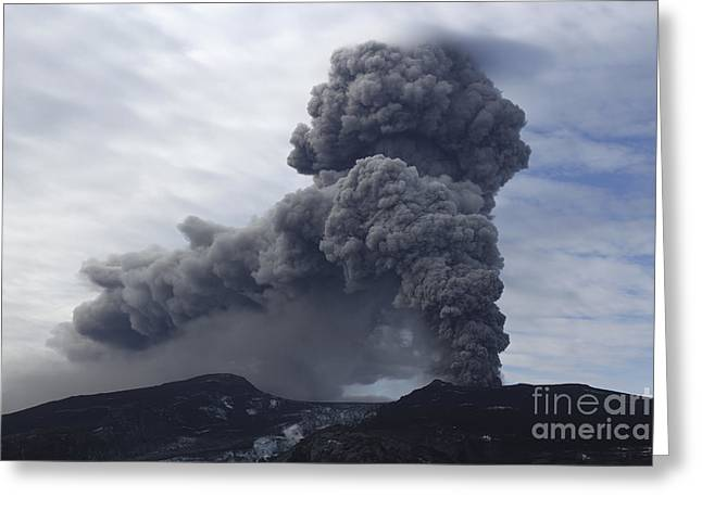 Eyjafjallajökull Eruption, Iceland Greeting Card by Martin Rietze