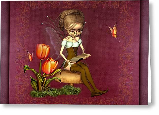 Fairy In The Garden Greeting Card by John Junek