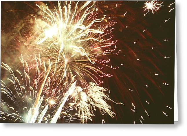 Firework Display Greeting Card by Magrath Photography