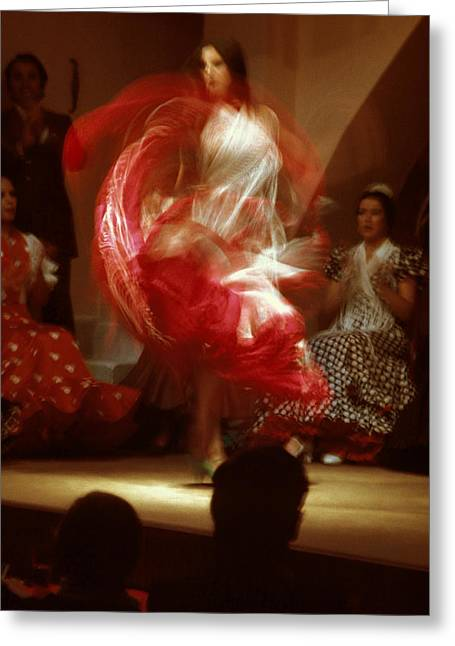Flamenco Dancer Greeting Card by Carl Purcell