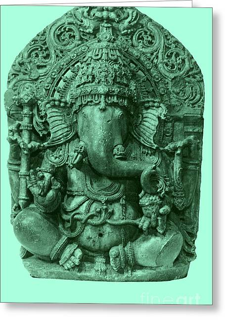 Ganesha, Hindu God Greeting Card by Photo Researchers