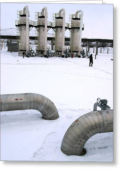 Gas Fuel Compressor Plant Greeting Card by Ria Novosti