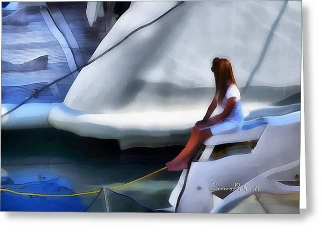 Genova Salone Nautico Internazionale - Genoa Boat Show Greeting Card